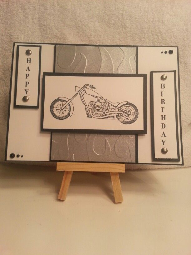 Motorcycle Birthday Card Male Cards Pinterest Motorcycle