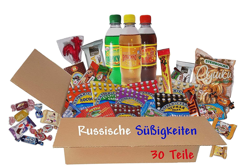 Queenbox Russische Sussigkeiten Snacks Getrankechips Schokolade Geback 30 Teile Sussigkeiten Aus Aller Welt Sussigkeiten Schokolade