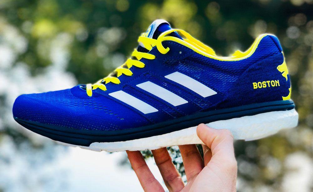 adidas Mens Adizero Boston 8 Running Shoes Trainers Sneakers Blue Sports