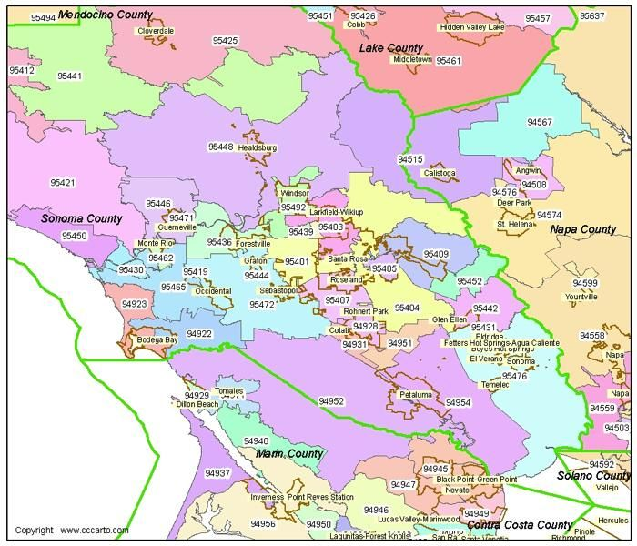 Santa Rosa Zip Code Map pictures of sonoma county ca | Sonoma, CA Zip Codes Post Office