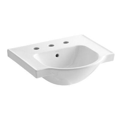Kohler Veer Ceramic 21 Pedestal Bathroom Sink With Overflow