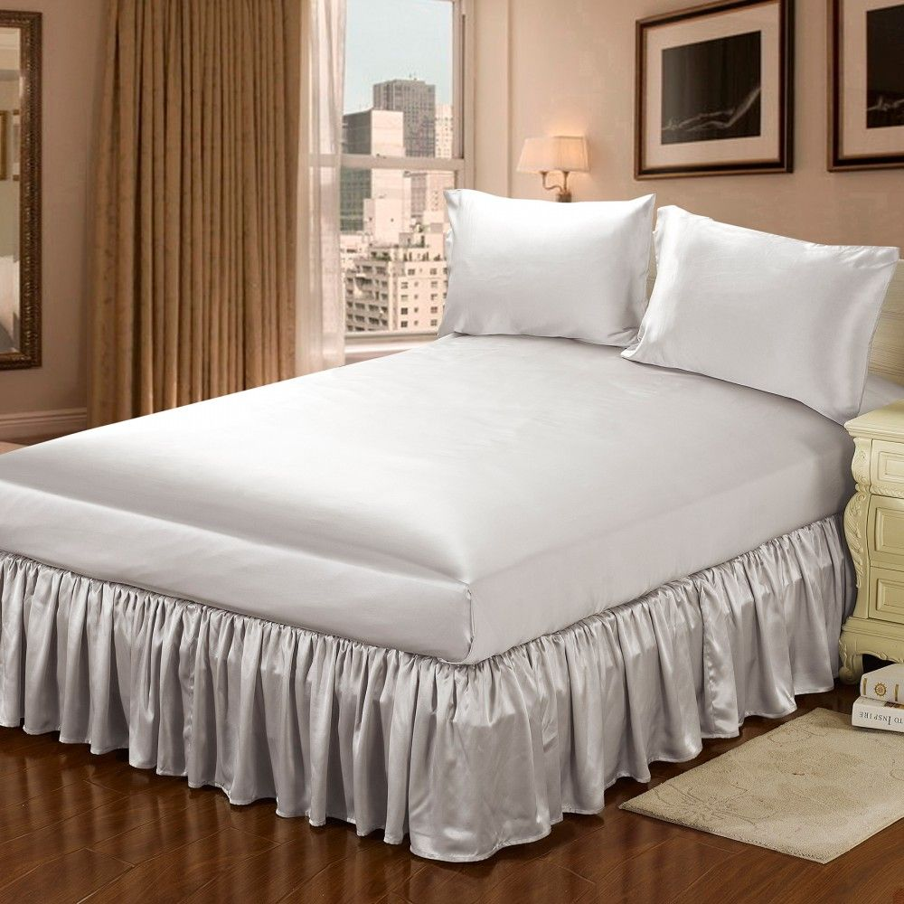 How to Make Bed skirt for Low Profile Box Spring? Silk