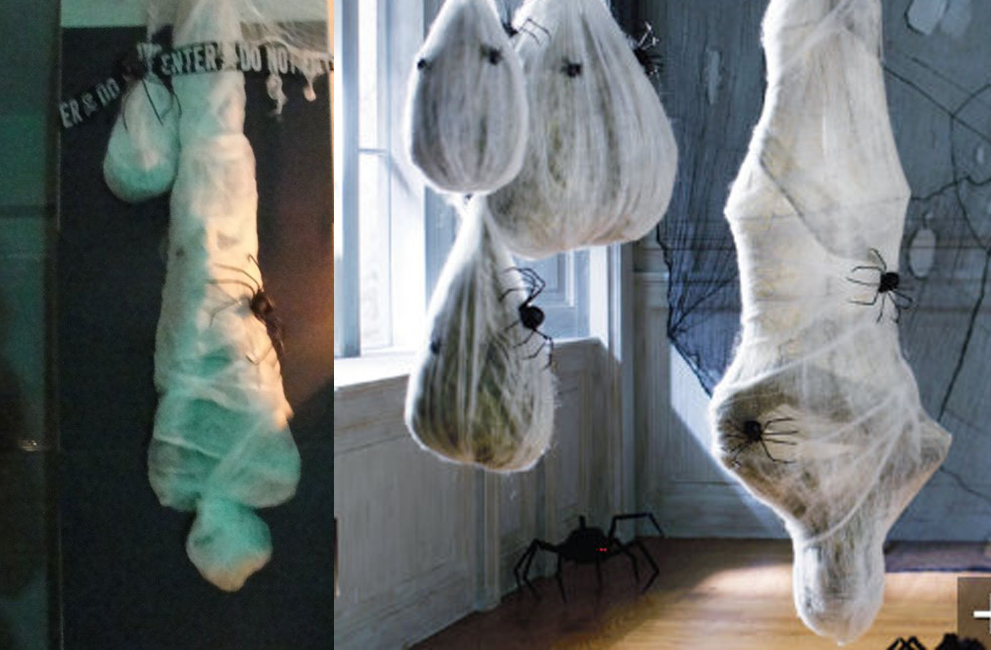 hanging mummy Halloween block party