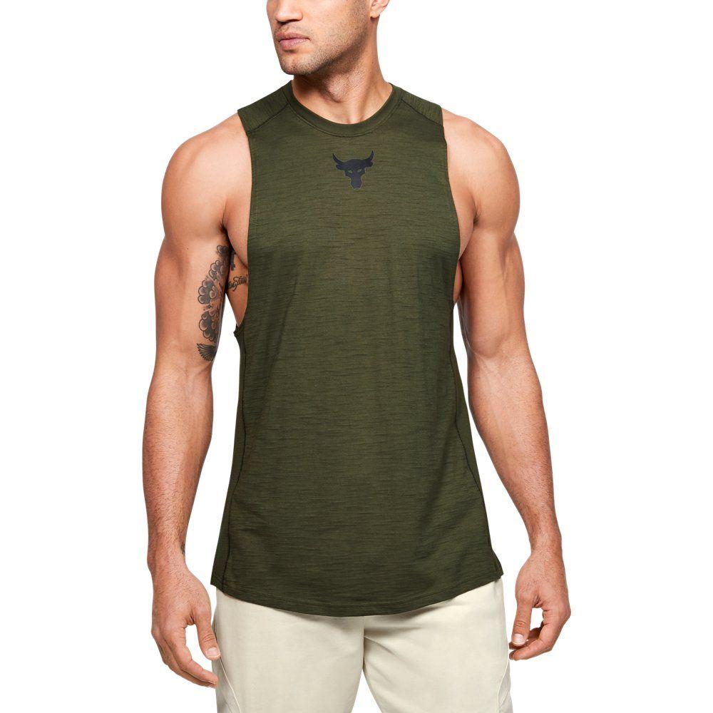 moderadamente Molesto comerciante  Men's Project Rock Charged Cotton® Tank   Under armour men, Cotton tank  top, Loose fit tank top