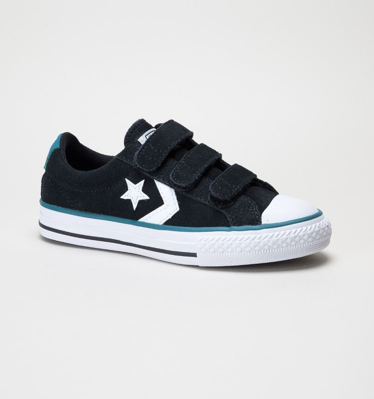 converse star player 3v grey youth canvas shoes
