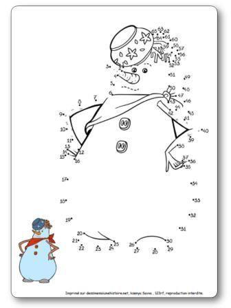Jeux Des Points A Relier Pingouin Bonhomme De Neige Dessin Pere Noel Dessins Hiver Bonhomme De Neige