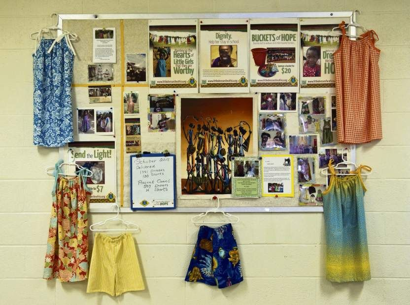 Dresses made at St. Luke's Lutheran Church, Youngwood for the non profit organization, Little Dresses for Africa.