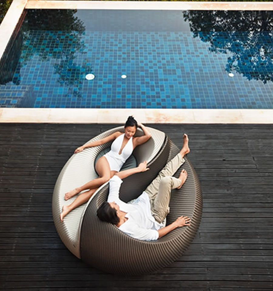 Unique And Unconventional Seating Design For Home Outdoor Furniture Yin Yang By Nicolas Thomkins