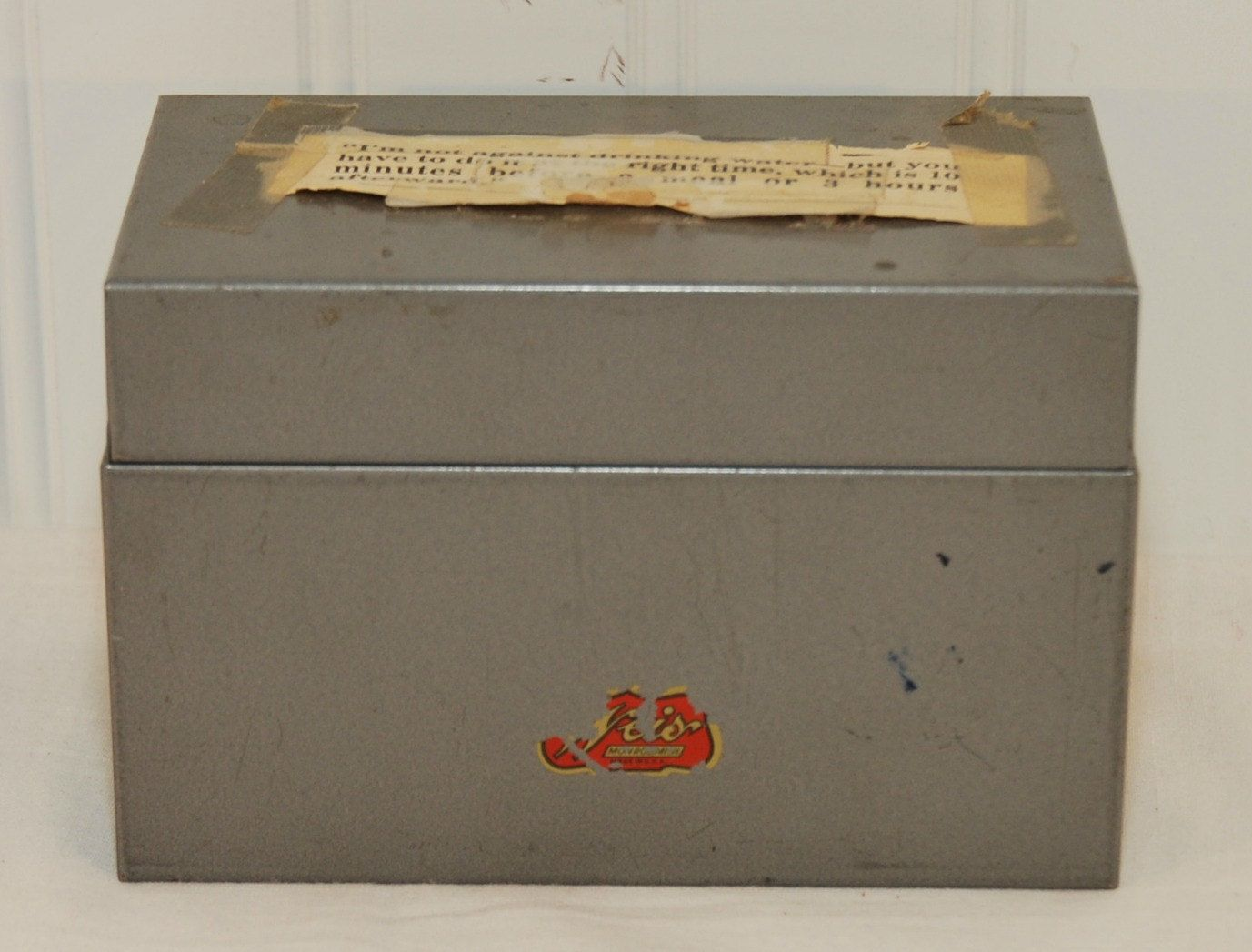 Mid Century Weis Gray Metal File Box C 1950s 3 Inch By 5 Cards Holistic Recipe Vintage Household Tip Art Project TooHipChicks On Etsy