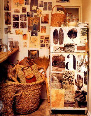 Kitchen of Ann Shore,stylist, Spitalfields, East London, 2000photographed by Melanie Acevedo