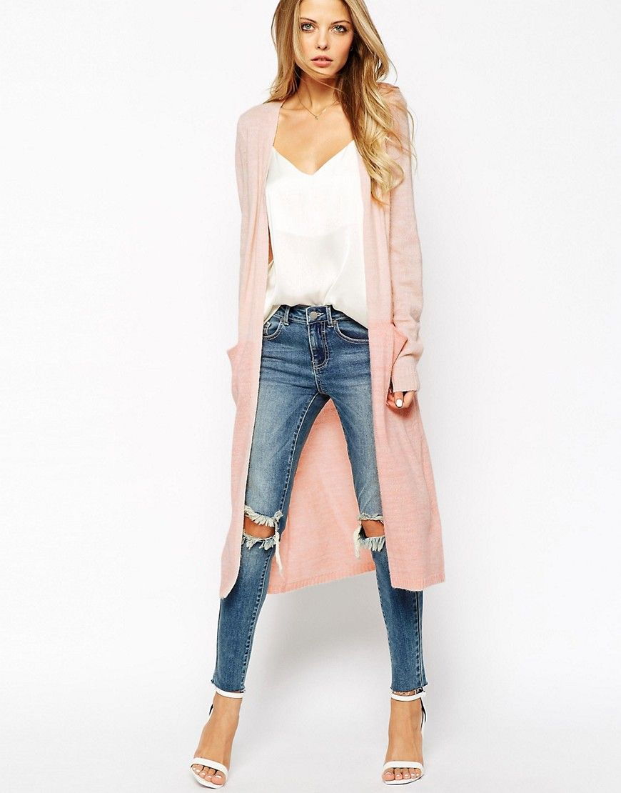 Image 1 of Vila Two Tone Long Line Cardigan | Clothes | Pinterest ...