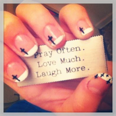 Cross Nail Design Nails Pinterest Cross Nail Designs Cross