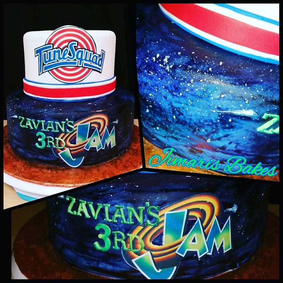 Space Jam Cake. Space Jam (With images) 1st birthday