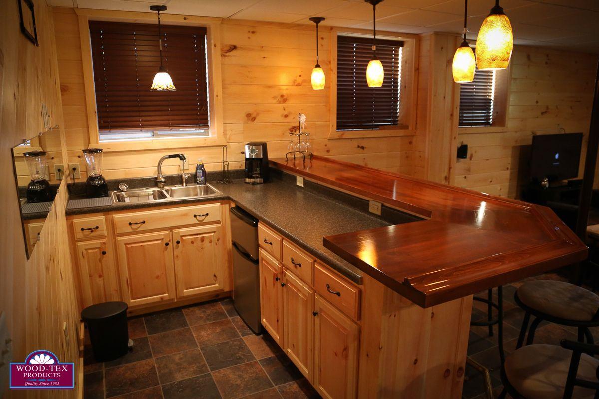 7 Beautiful Cabin Kitchens + Bonus Basement Bar   Wood Tex Modular Cabins