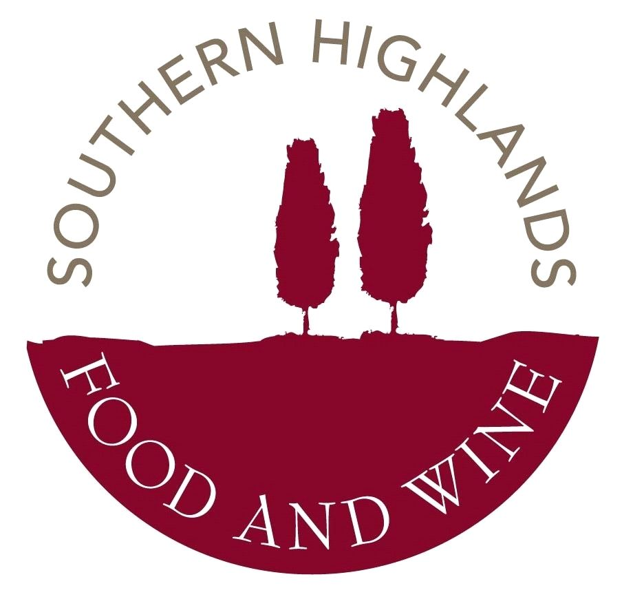 Southern Highlands Food Wine Logo Red Violet Pictorial Wine Logo Wine Festival Beautiful Bodies