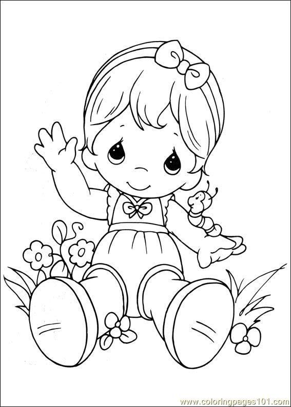 Coloring Pages Precious Moments 03 (Cartoons > Precious moments ...
