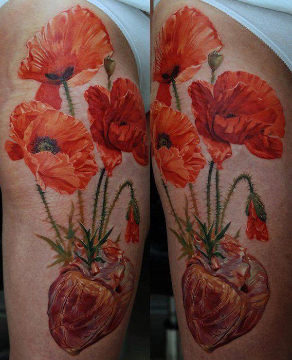 60 Beautiful Poppy Tattoos   Watercolor poppy tattoo ...