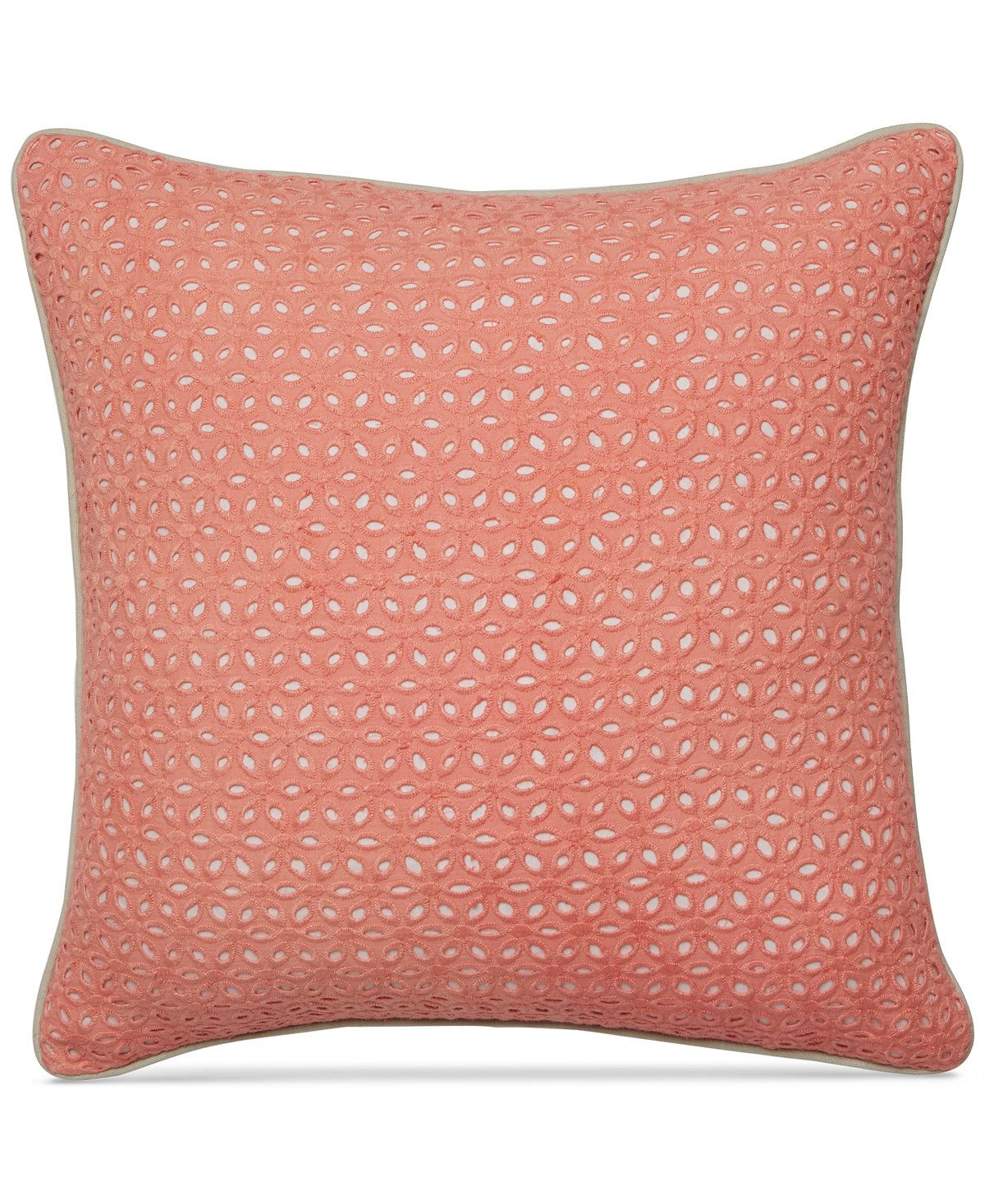 Martha Stewart Collection Seashell Pink Embroidered Eyelet 18 ...