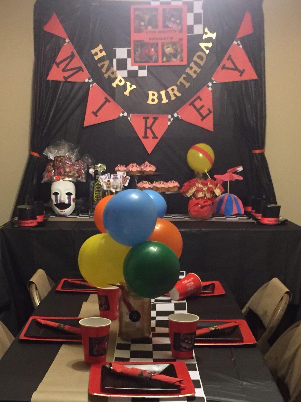 Fnaf Party Set Up Fnaf Birthday Pinterest Fnaf