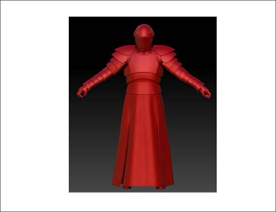 EVA Foam templates of Elite Praetorian Guard Wearable Armor costume ...