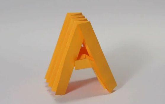 Origami Alphabet  Typography    Alphabet Letters
