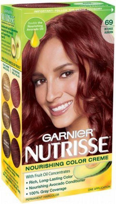 Garnier Nutrisse Hair Color Intense Auburn Pack Of