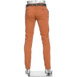 Photo of Pantaloni chino rob da uomo di Alberto, slim fit, cotone T400, arancione mango Alberto