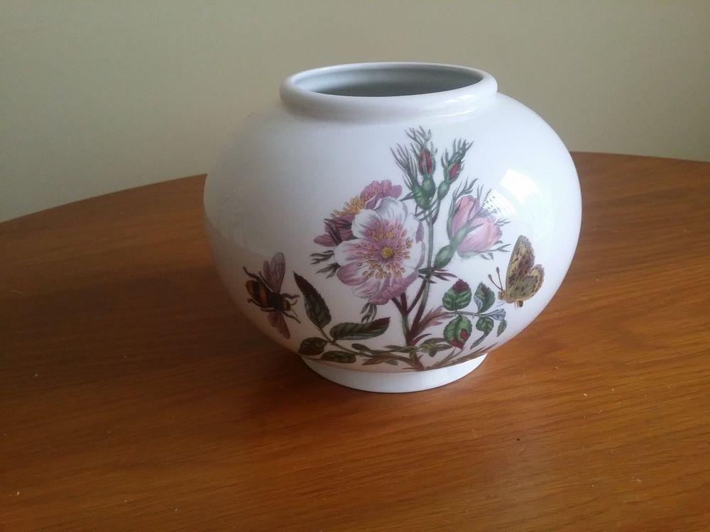 Portmeirion Botanic Garden Vase Globe Shape Dog Rose 75 High