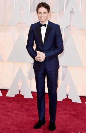 #EddieRedmayne in Alexander McQueen at the  Oscars, 2015.
