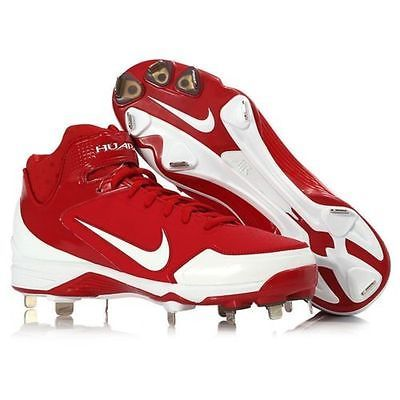 low priced dd01a 30ad4 ... Details about NEW Nike Air Huarache 2K Fresh Metal Baseball Cleats-  Red-  100+ ...