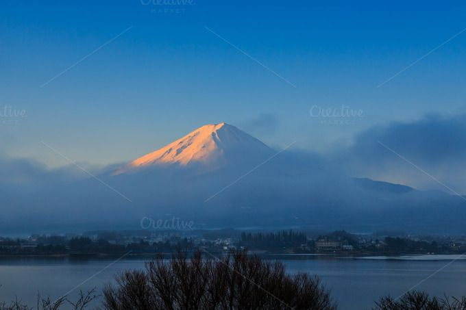 Fuji mountain by Pushish Images on @creativemarket