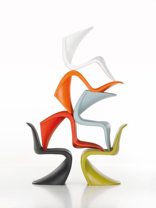 Vitra Panton Chair Weiß panton chair by verner panton sillas chairs panton