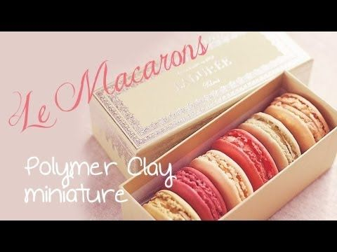DIY : Free Video Tutorial on how to make Miniature Macarons in Fimo or Polymer Clay