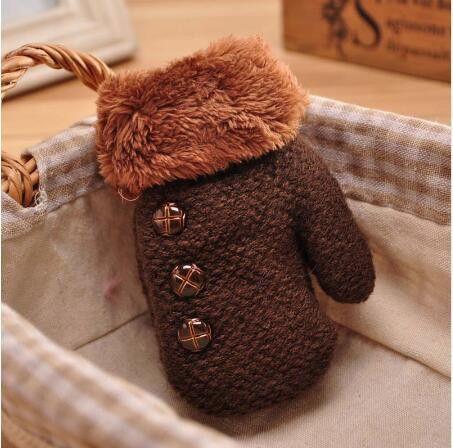 2fe549506 Winter Baby Boy girl gloves knitted Cotton kids full finger mittens ...