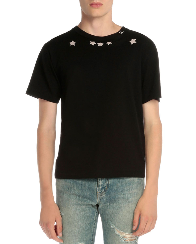 690f433a40 Star-Print Short-Sleeve T-Shirt Black | *Clothing > Shirts & Tops ...