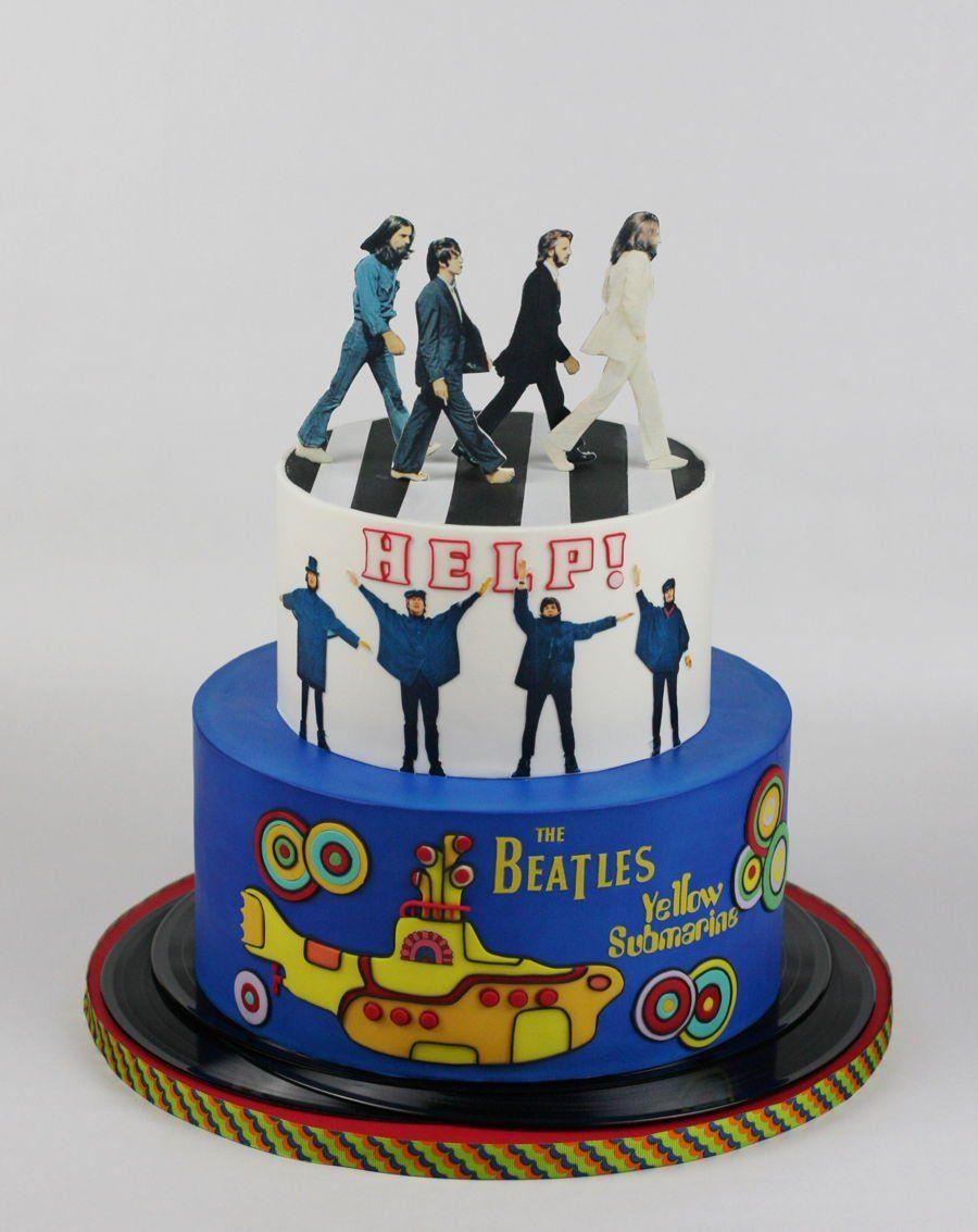Awesome Cake For A Beatles Fan Beatles Birthday Cake Beatles Birthday Funny Birthday Cards Online Alyptdamsfinfo