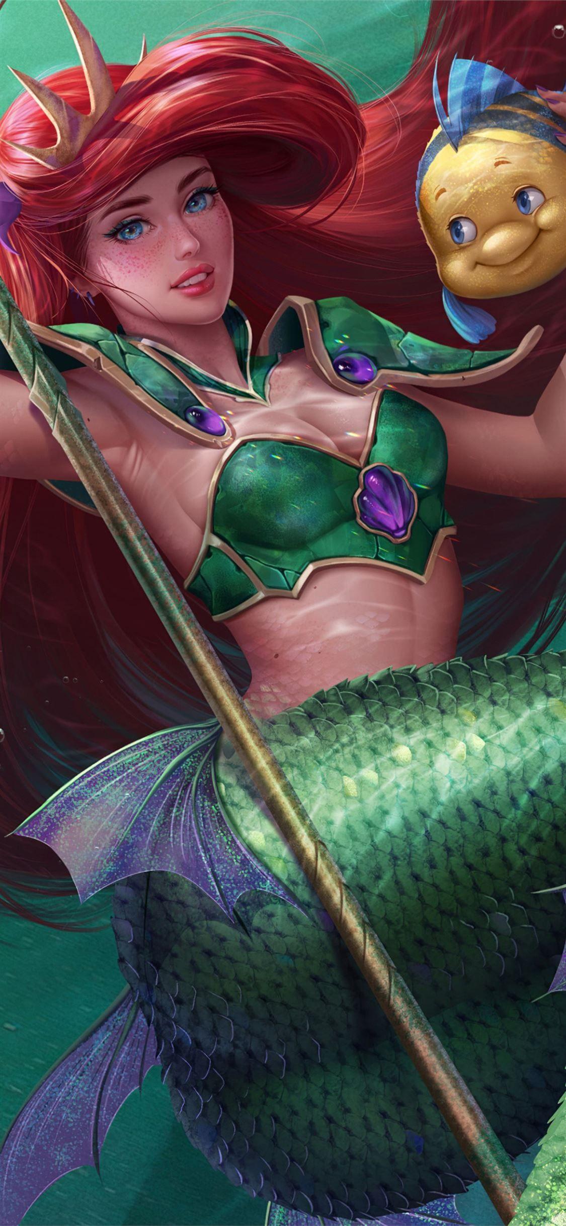 Little Mermaid Fish 4k Movies Animatedmovies 4k Mermaid Deviantart Iphone11wallpaper Mermaid Wallpapers Mermaid Background Little Mermaid Wallpaper Anime mermaid iphone wallpaper
