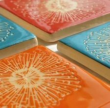 How To Make Your Own Decorative Ceramic Tiles I Could Do This Fun Summer Project Perhaps