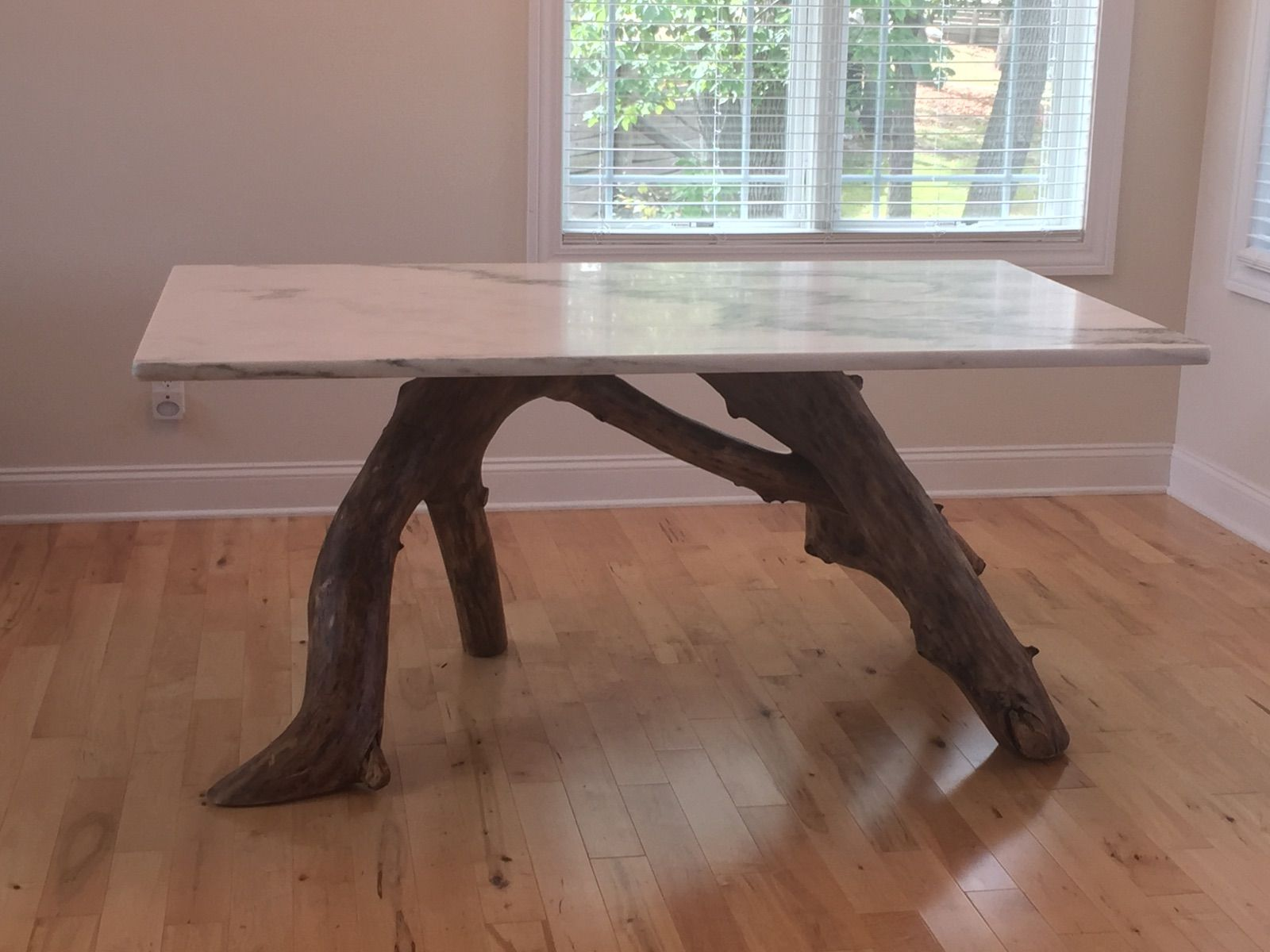 quartz top dining table. A Tree Limb Base Holds This Gorgeous Marble Table Top In Custom Piece. Quartz Dining