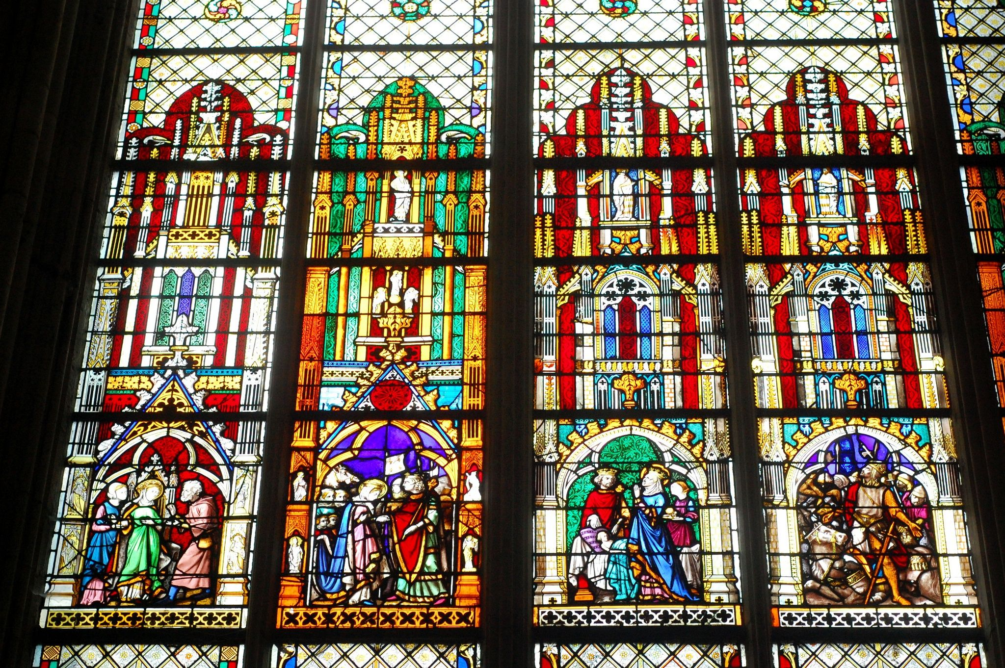 Stained glass, Abbatiale Saint-Ouen by Anna Stevenson on 500px