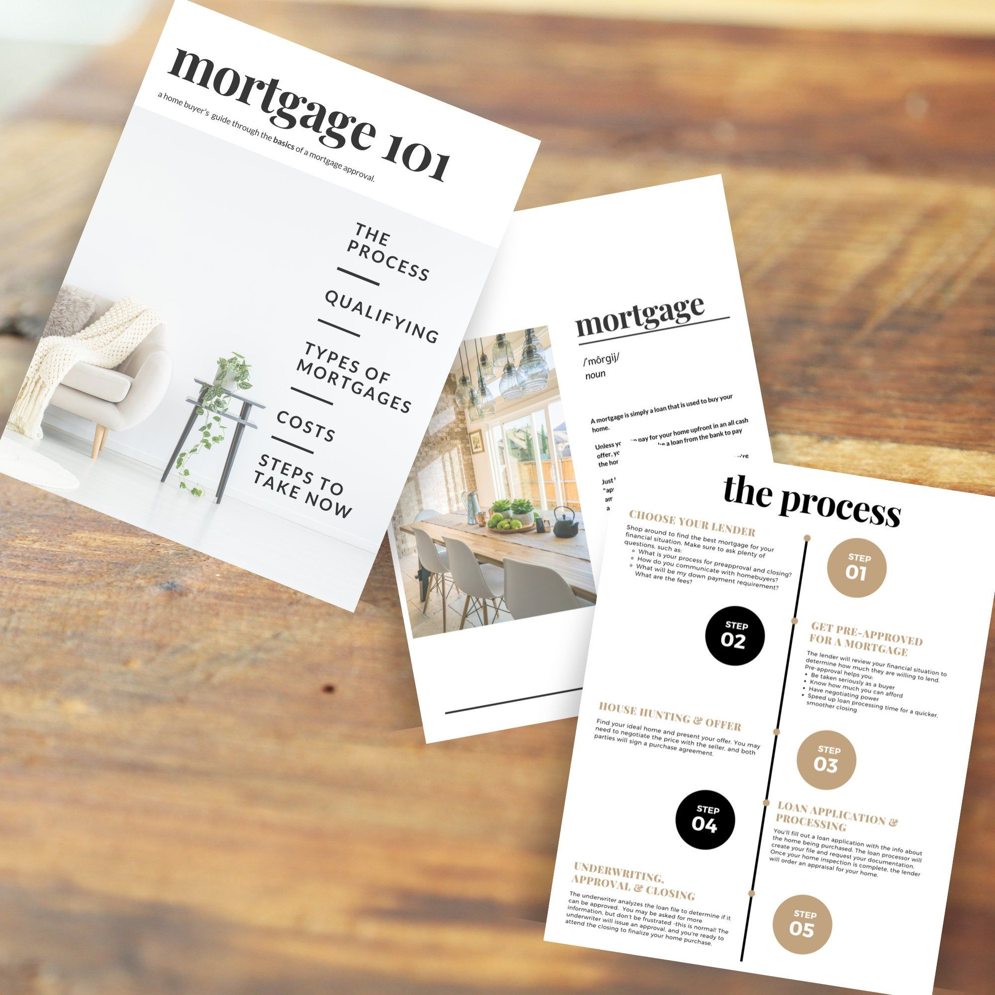 Real Estate Mortgage Guide, Instant download PDF, Realtor tools, Real estate marketing, Buyers presentation, Canva, Realtor template, Buying