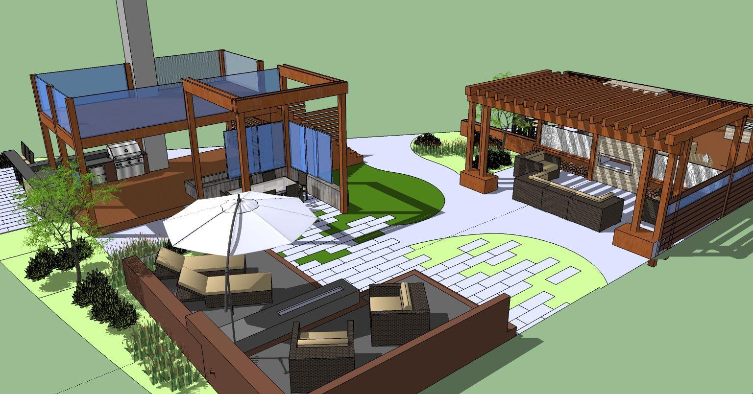 rooftop deck design - Google Search   Outdoor spaces   Pinterest ...
