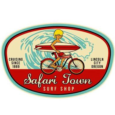 Safari Town Surf Bike & Surf Sticker in 2020 | Surf ...