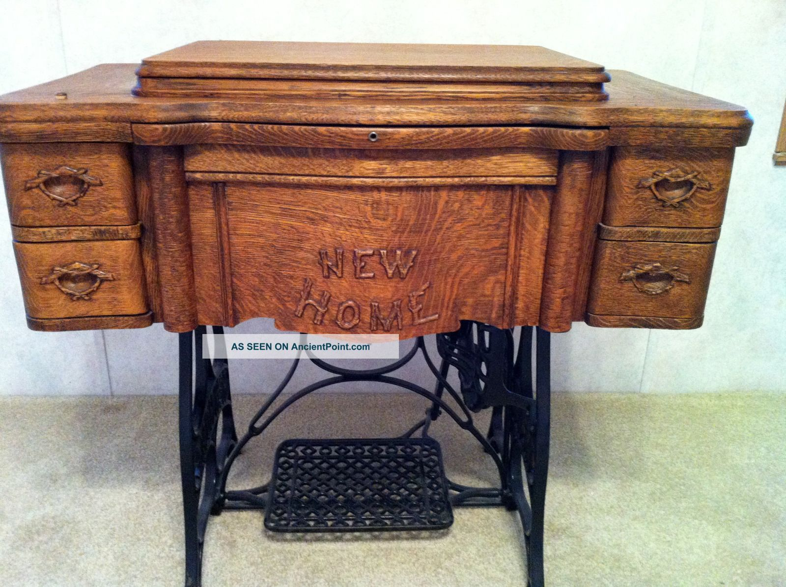 Antique New Home Treadle Sewing Machine 1911 Furniture Design Wooden Sewing Machine Antique Sewing Machines
