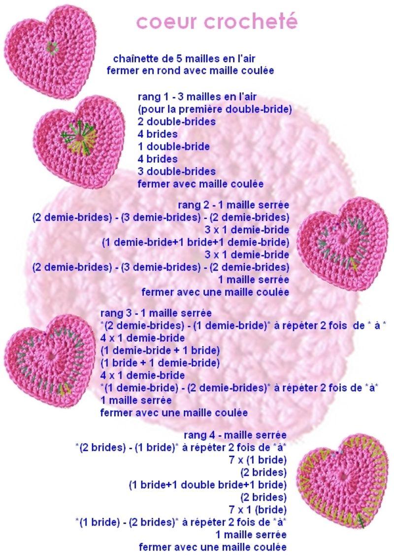 Coeur Tutos Crochet Patterns Diy Crochet Crochet Flowers