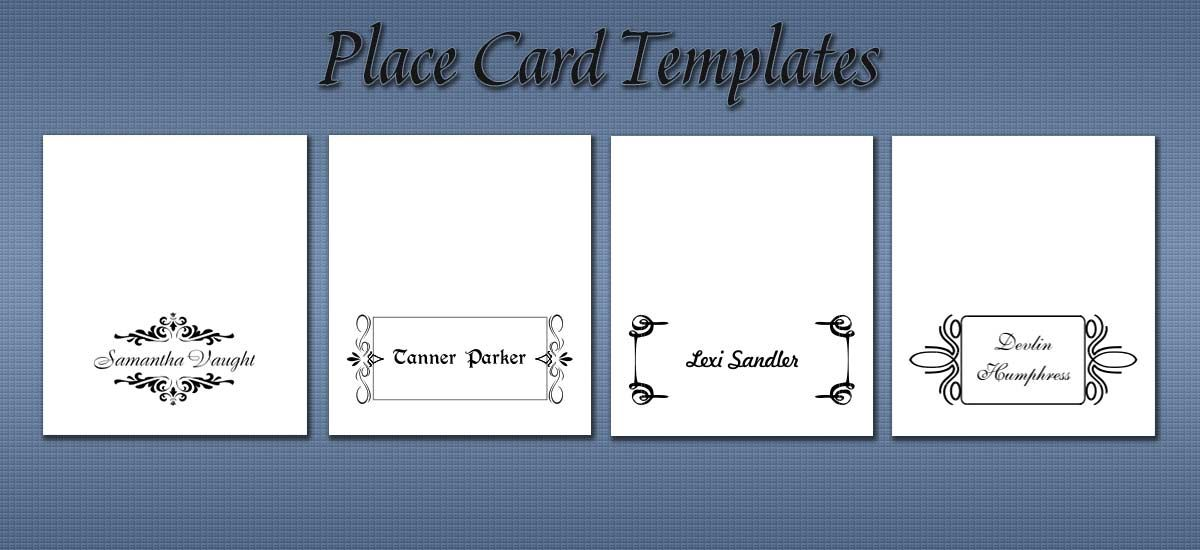 Place Card Templates Fit Standard Avery Stock Place Card Template Word Free Place Card Template Place Card Template