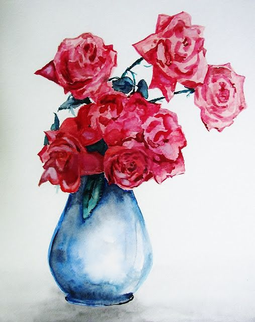 Sans Titre Croquis De Fleurs Peinture Fleurs Bouquet De Roses