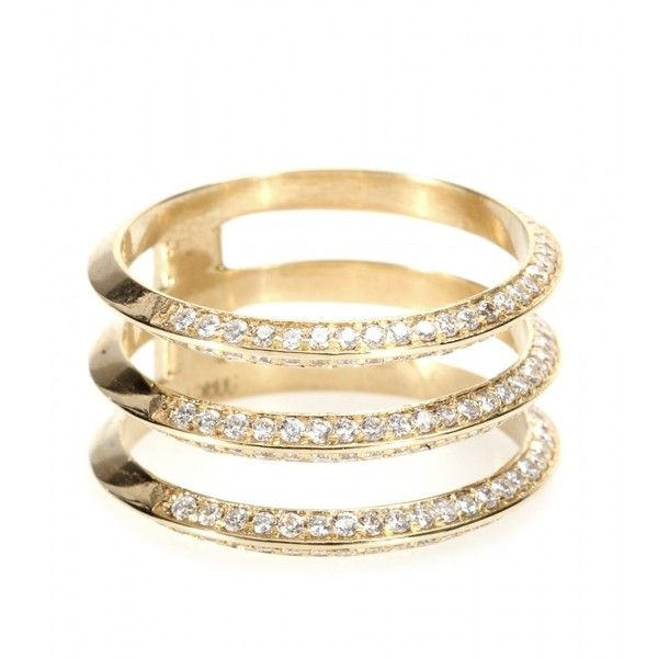 18kt gold and baguette-diamond ring Ileana Makri h7fZ4