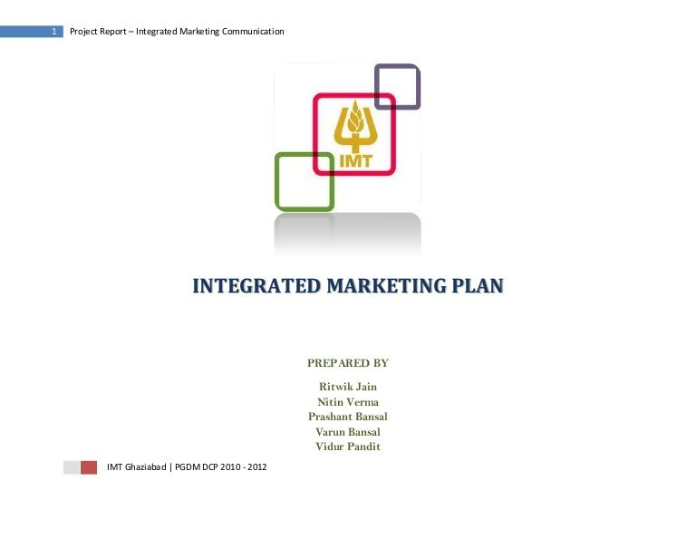 1 Project Report \u2013 Integrated Marketing Communication\u2026 reference - project report