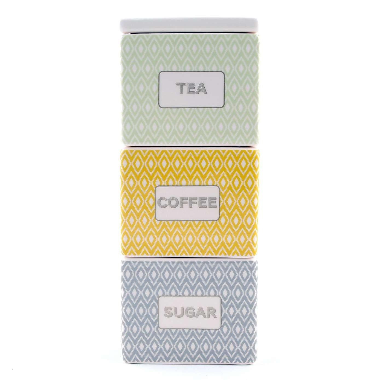cosy skandi assorted square stacking jars dunelm. Black Bedroom Furniture Sets. Home Design Ideas